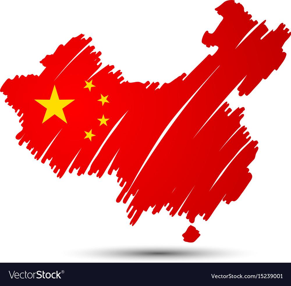 China map vector image