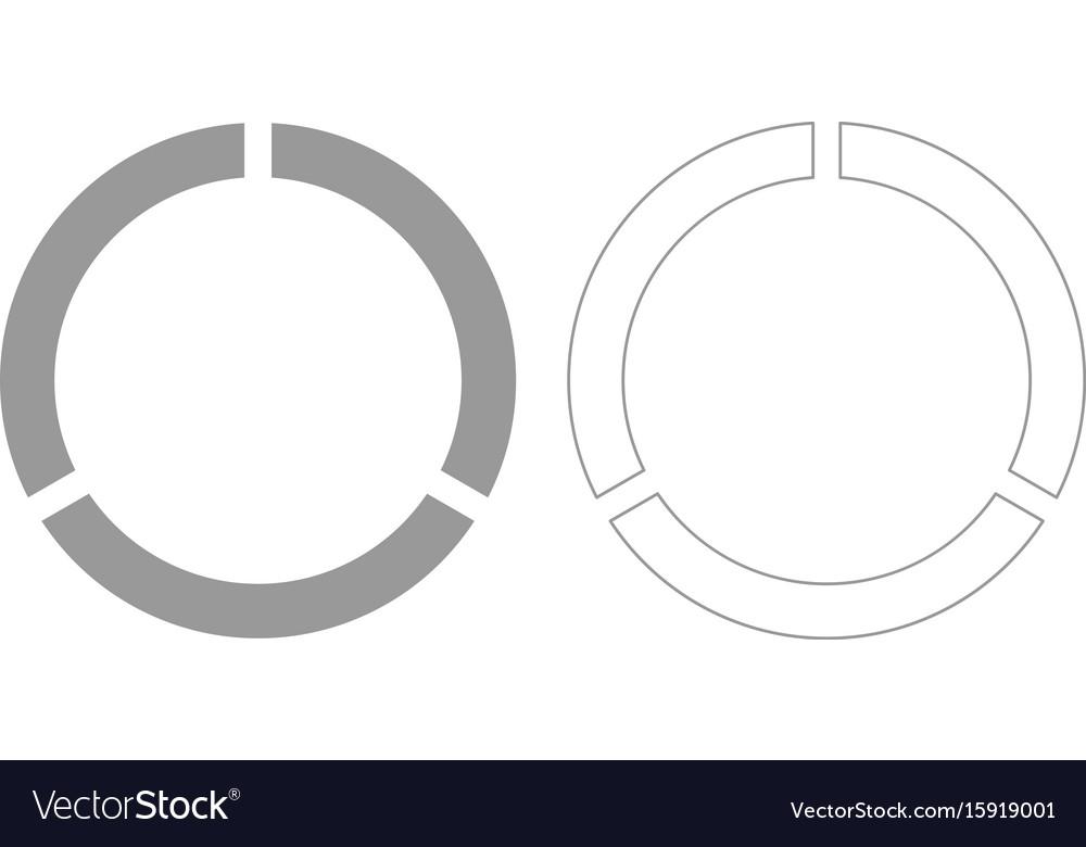 Data sign grey set icon vector image