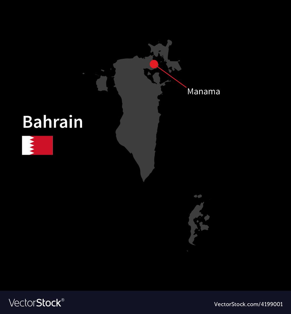 Detailed map of Bahrain and capital city Manama