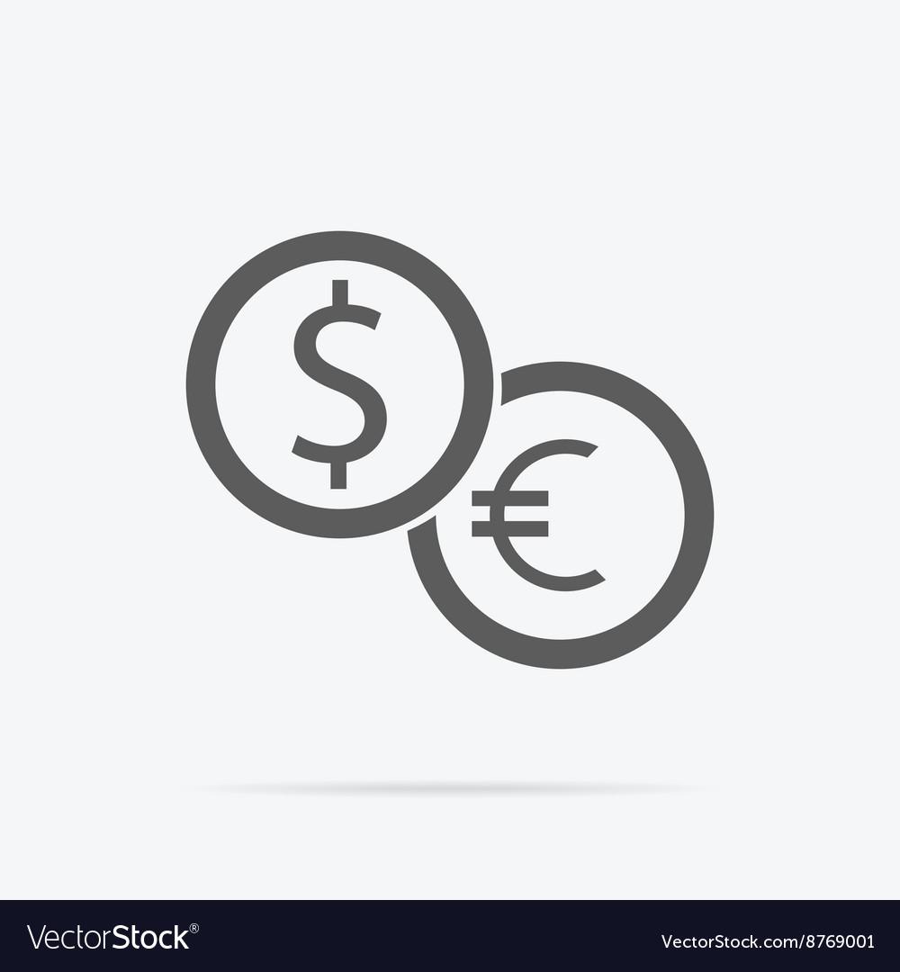 Dollar and Euro Icon