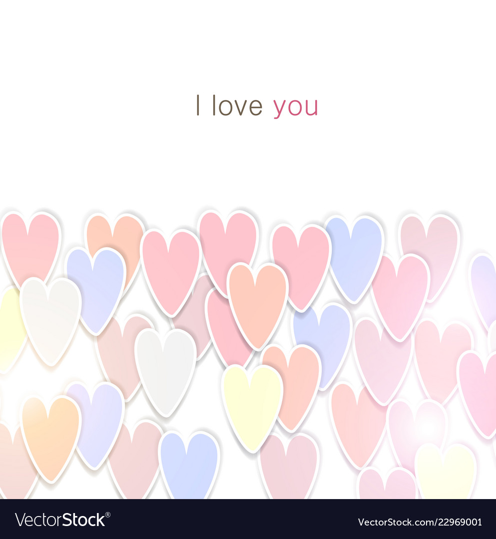 Elegant background with hearts valentine s vector