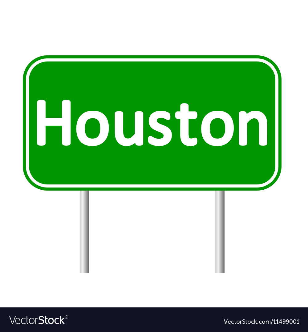 Houston green road sign