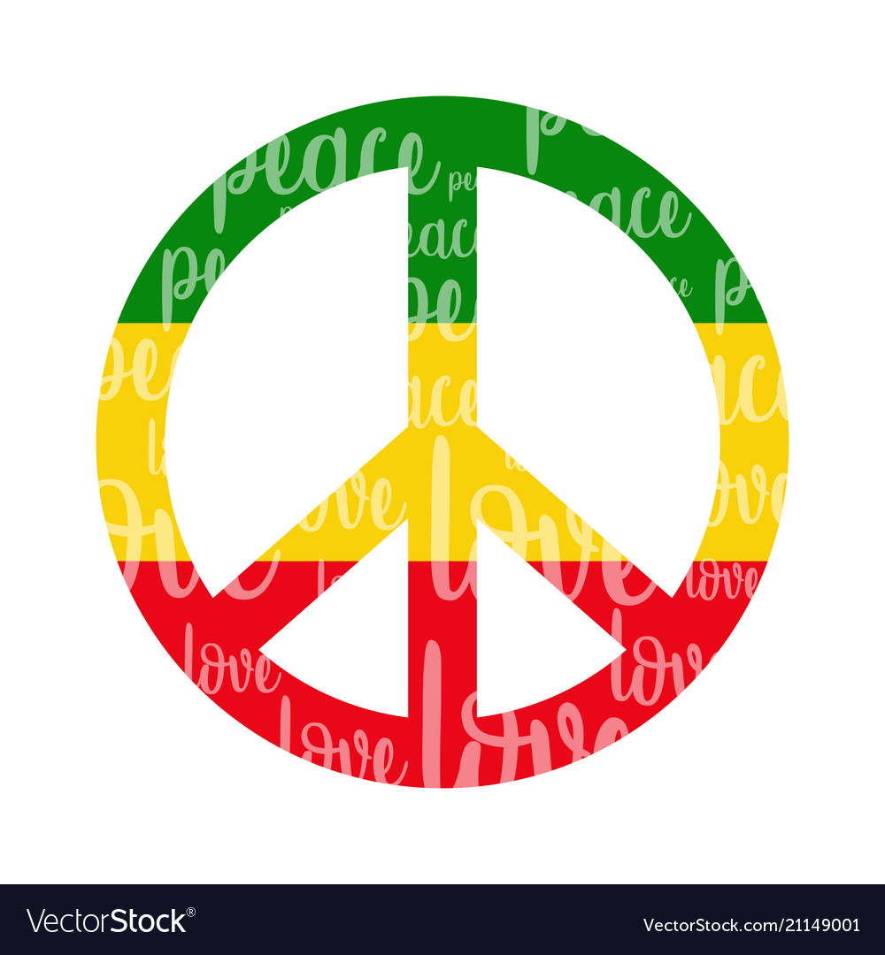 Isolated Colored Peace Symbol Royalty Free Vector Image
