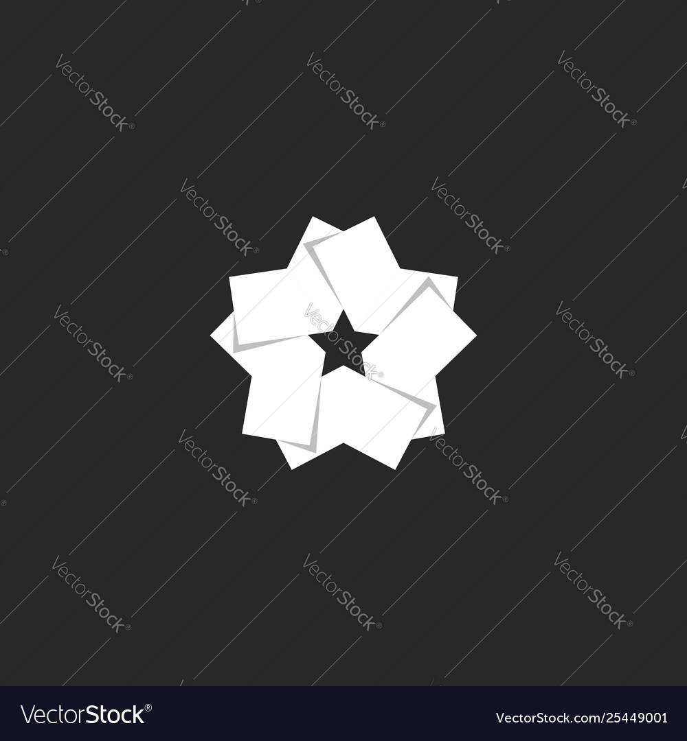 Modern creative logo star shape overlapping