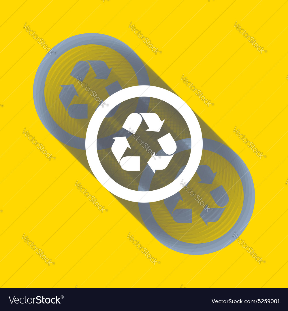 Recycle sign or icon Ecology icon with shadow vector image