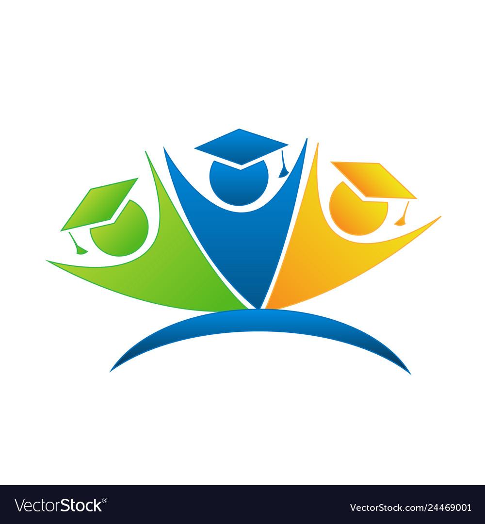 Teamwork education students goals logo