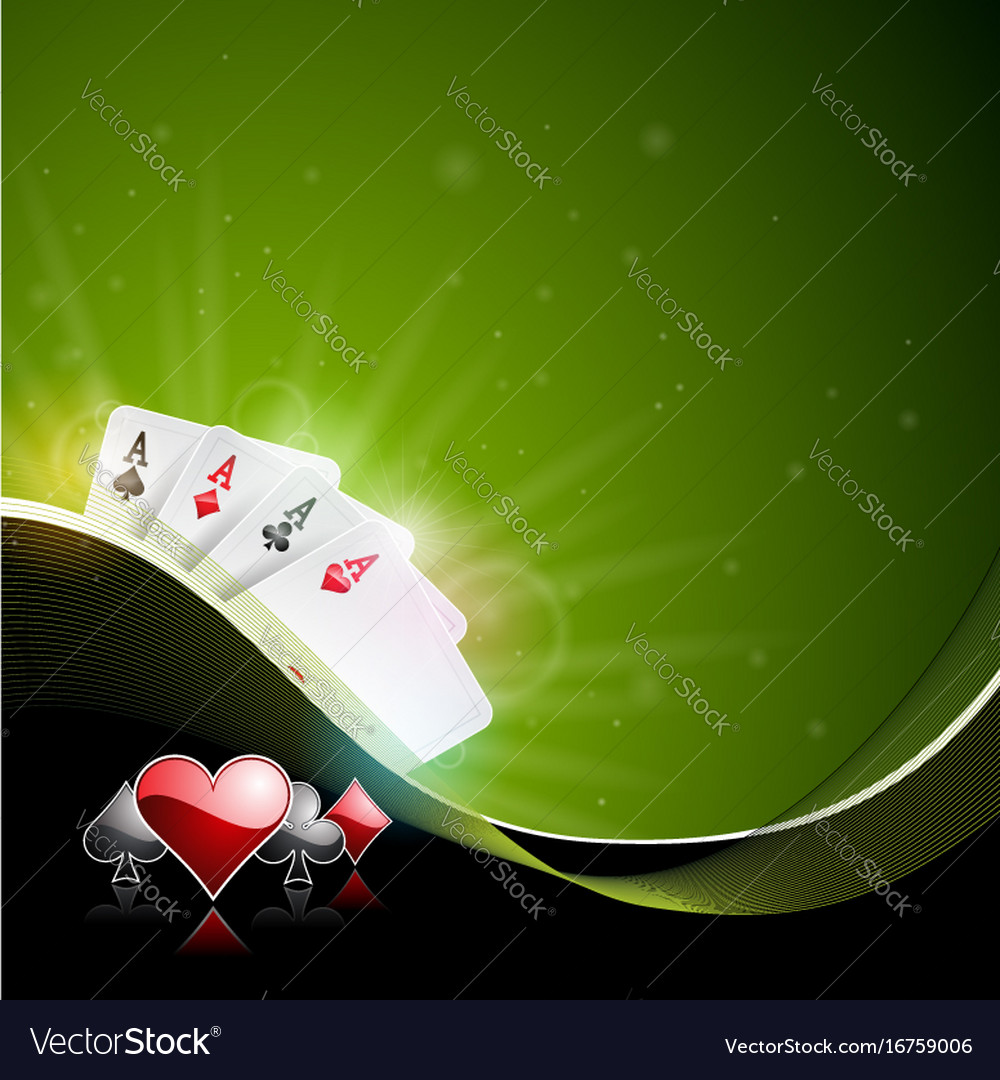 Casino with playing cards
