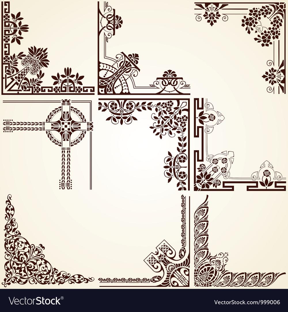 Decorative ornamental corners