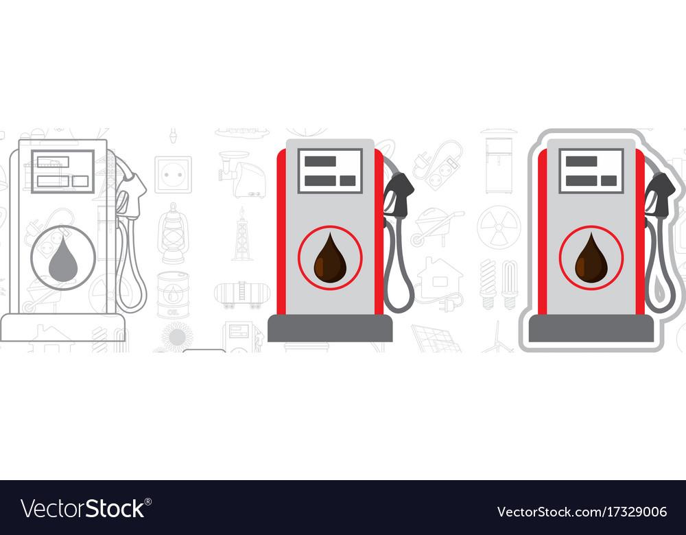 Gasoline station logo fuel vector image