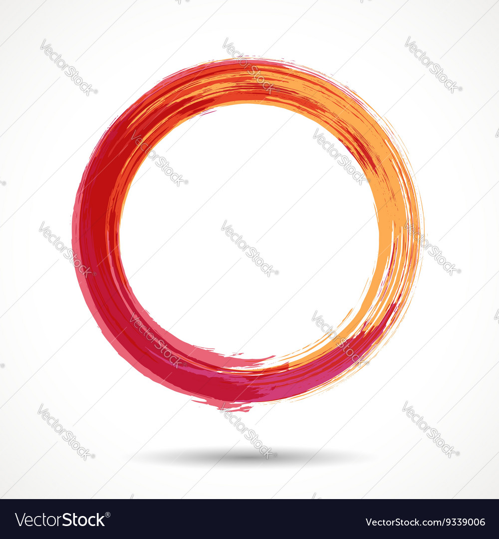 Orange and marsala fashion styled watercolor ring