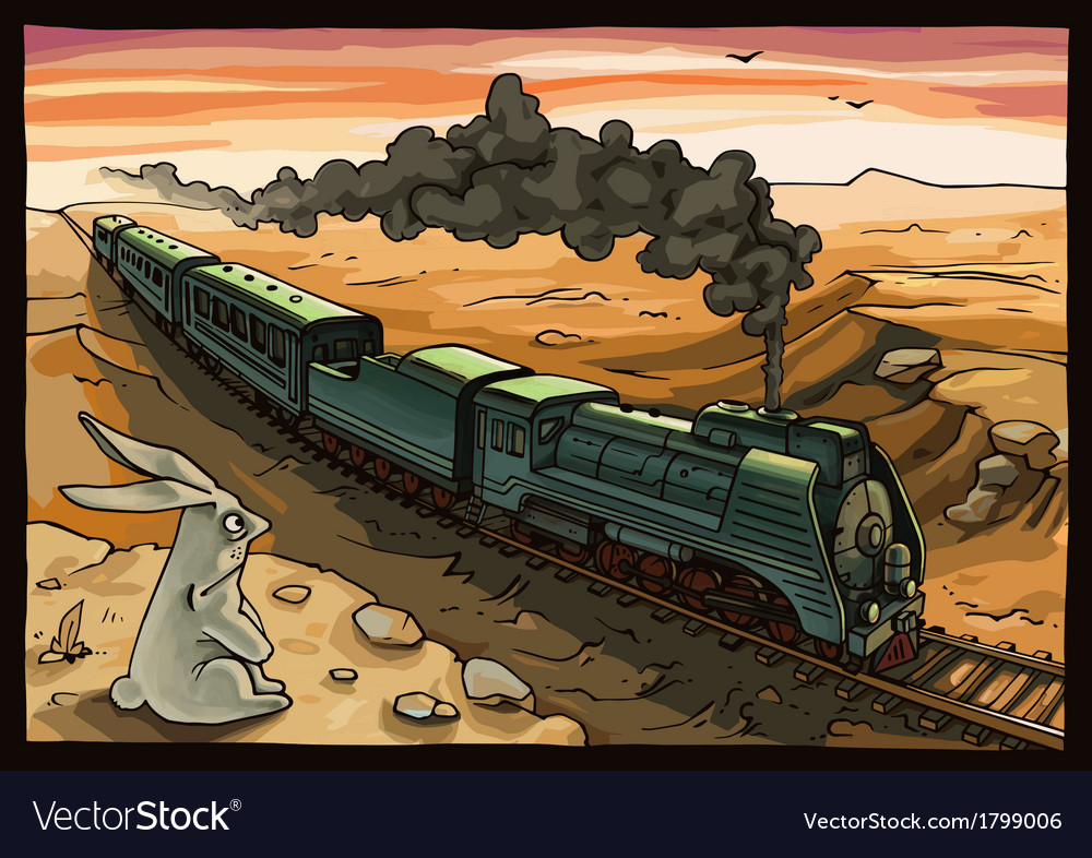 Steam Locomotive and Rabbit