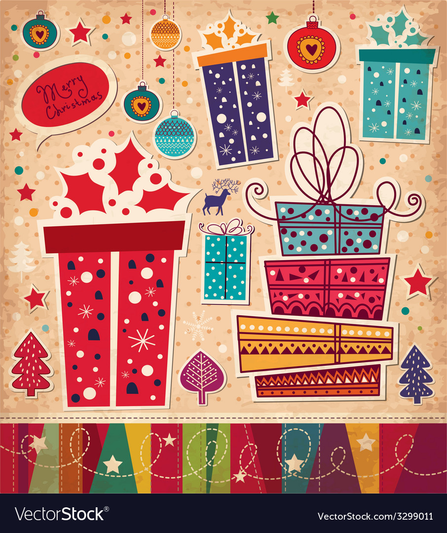 Christmas with gift boxes