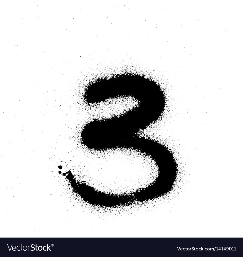 Number graffiti 3 vector images 30