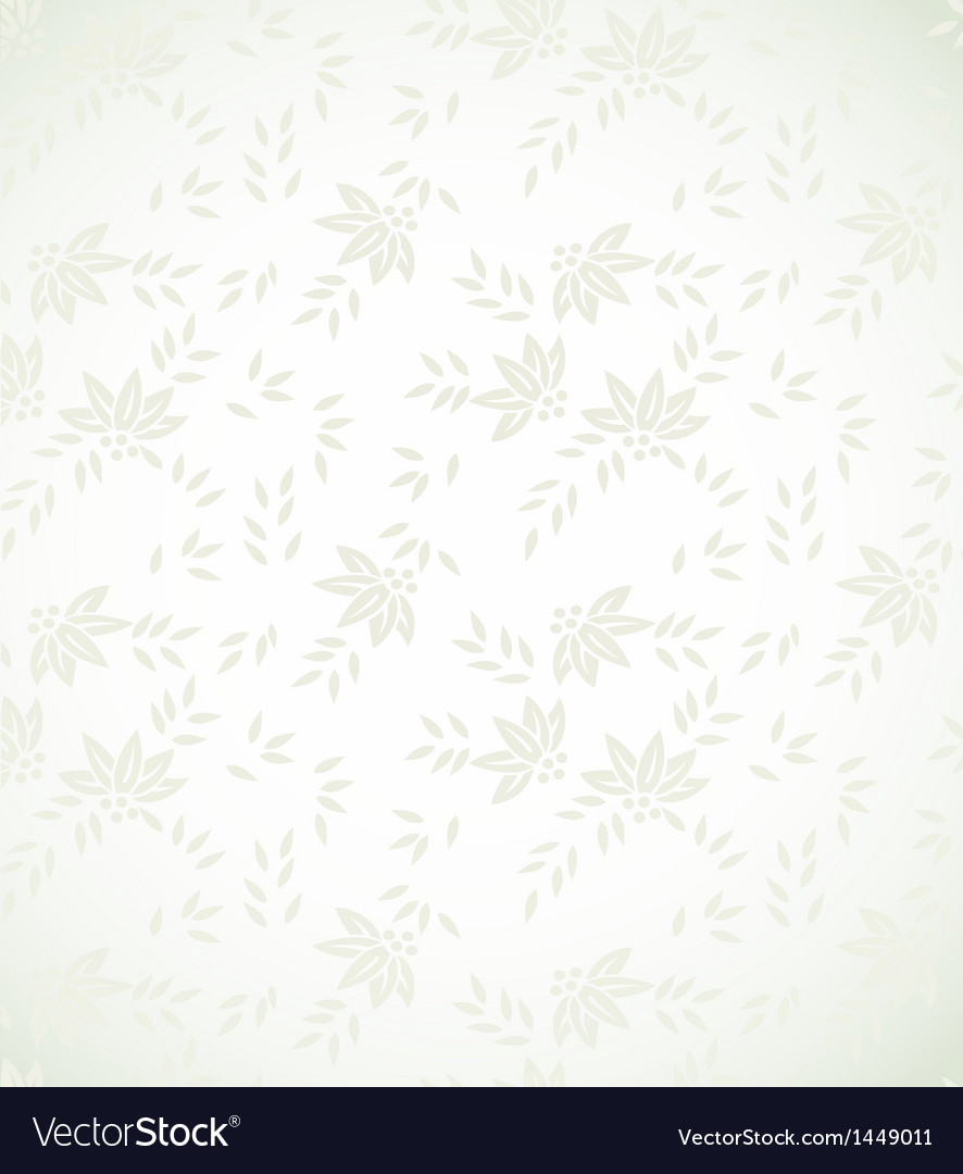 Silver Floral Background Royalty Free Vector Image