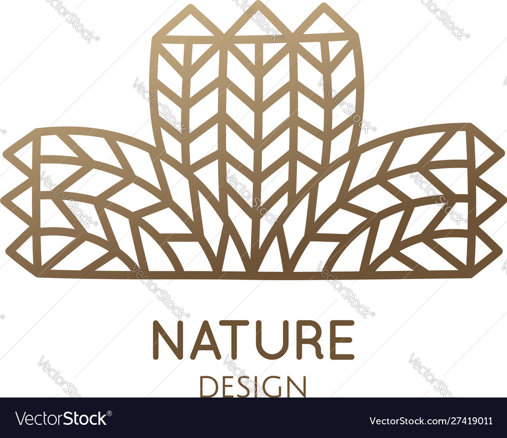 Wheat pattern logo linear abstract icon