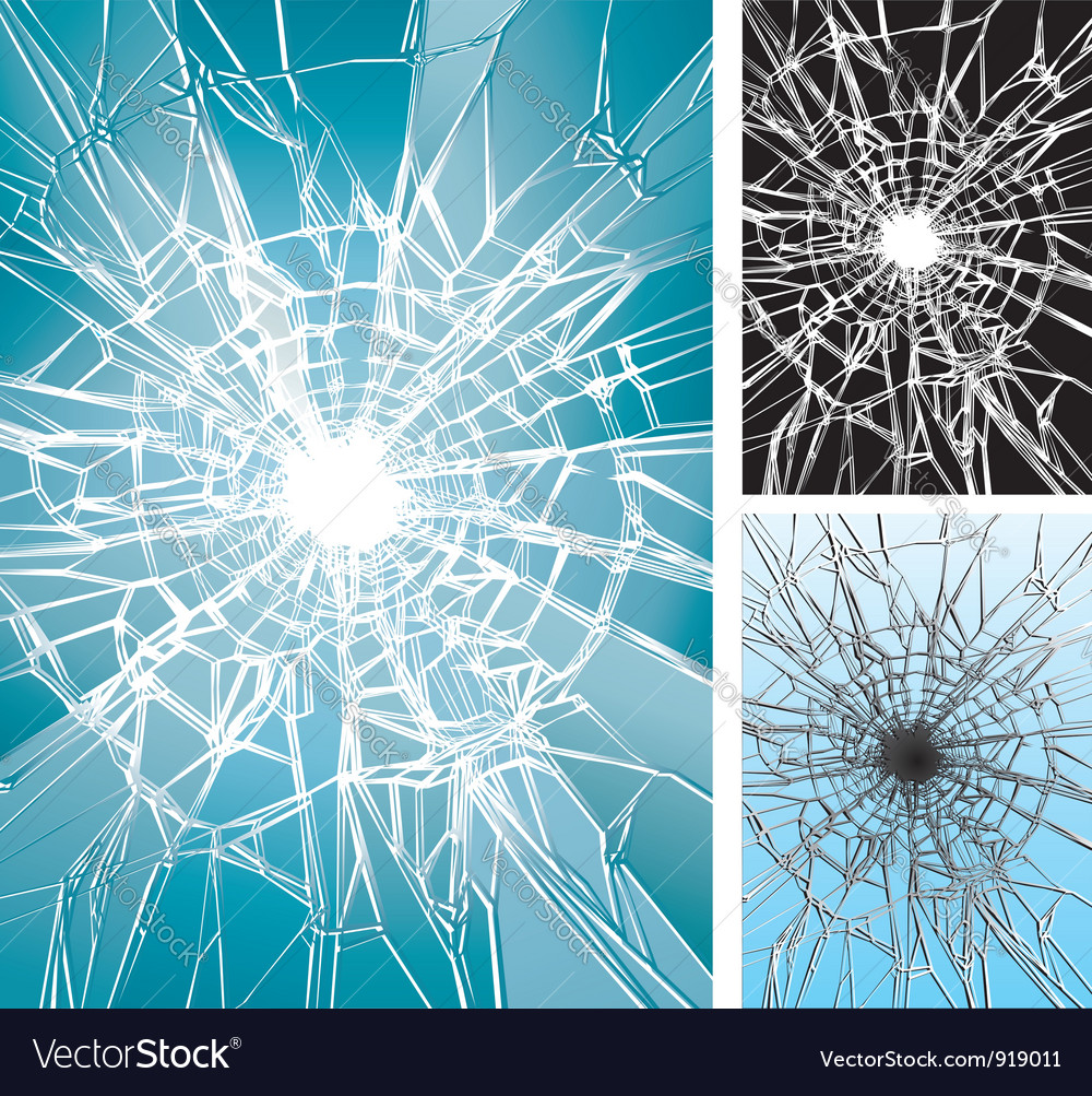 Window Broken vector image