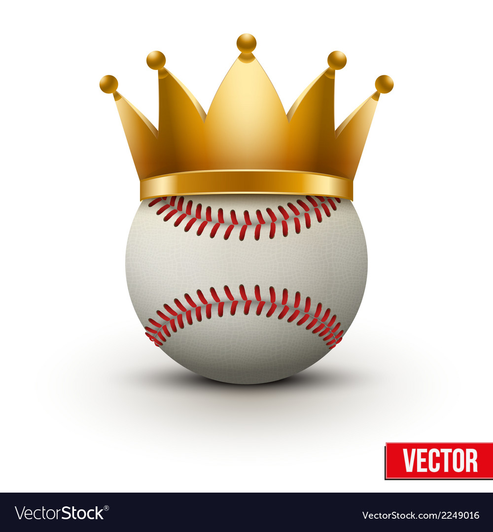 Baseball ball with royal crown