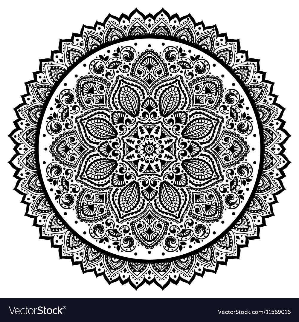 bohemian indian mandala towel print vintage henna vector image rh vectorstock com henna vector art henna vector art