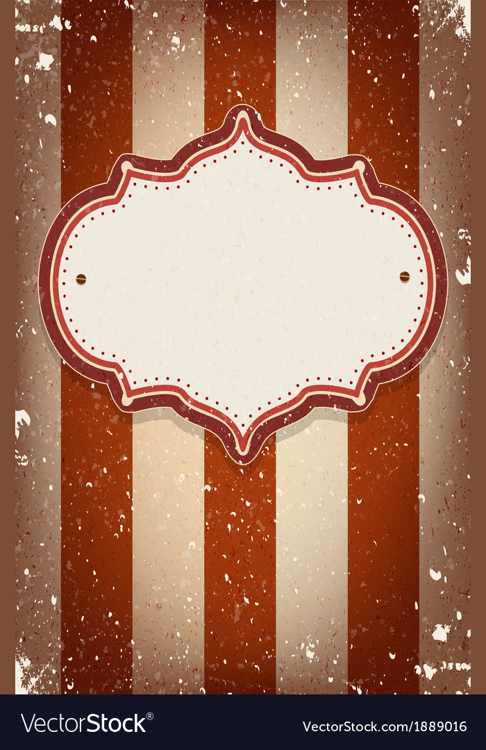 Vintage circus inspired frame Royalty Free Vector Image