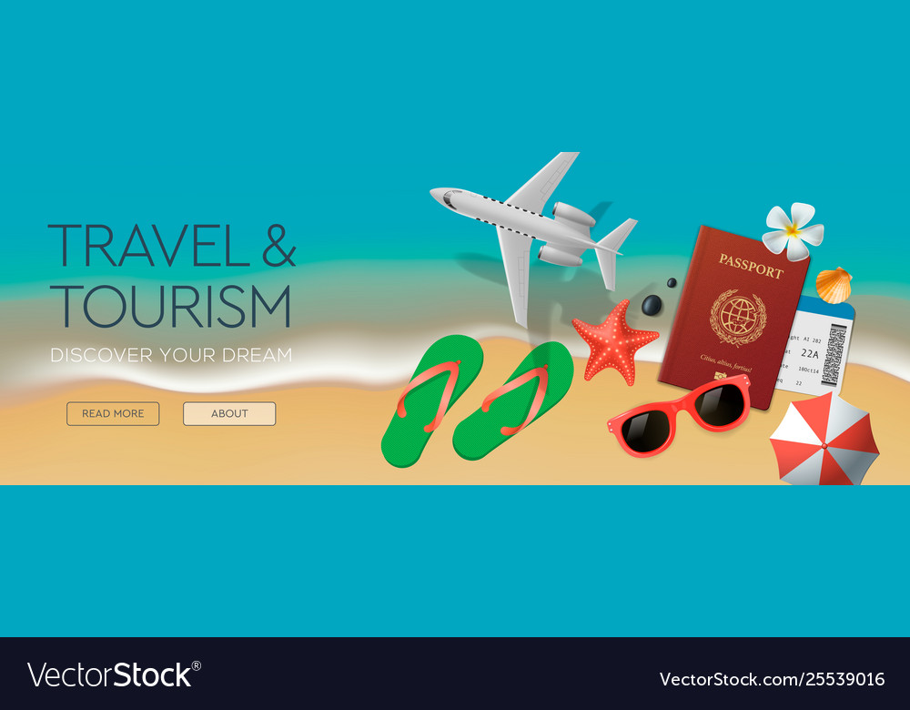 Web banner template on theme travel