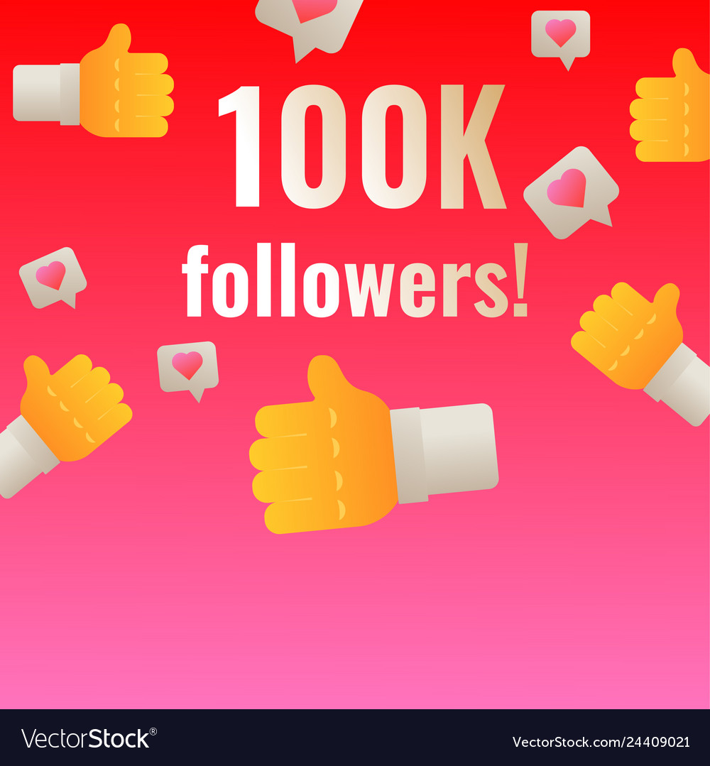 100k followers thank you post banner template for