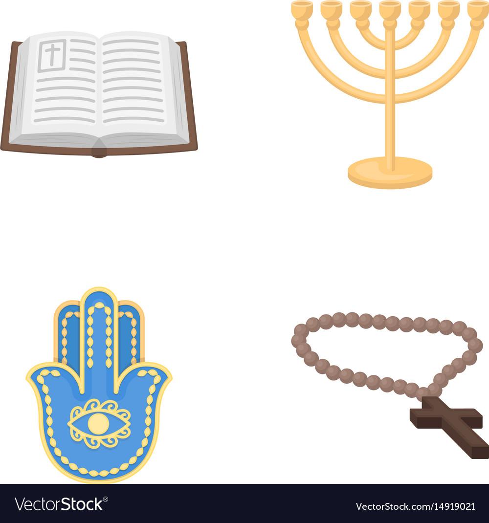 Bible menorah hamsa orthodox crossreligion set