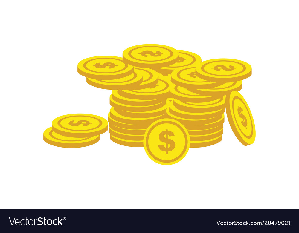 Coin dollar finance growth logo vector image