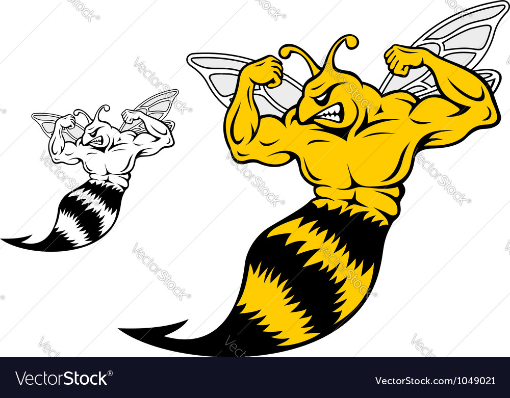 Danger Yellow Jacket With Muscles Royalty Free Vector Image