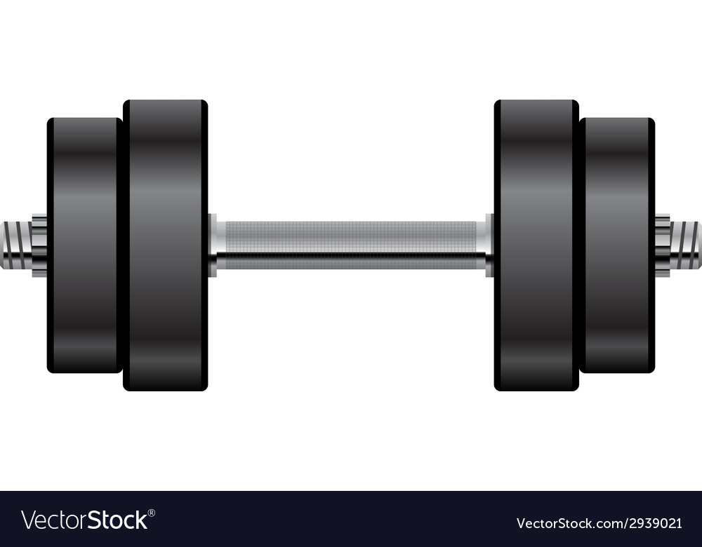 Dumbbell vector image