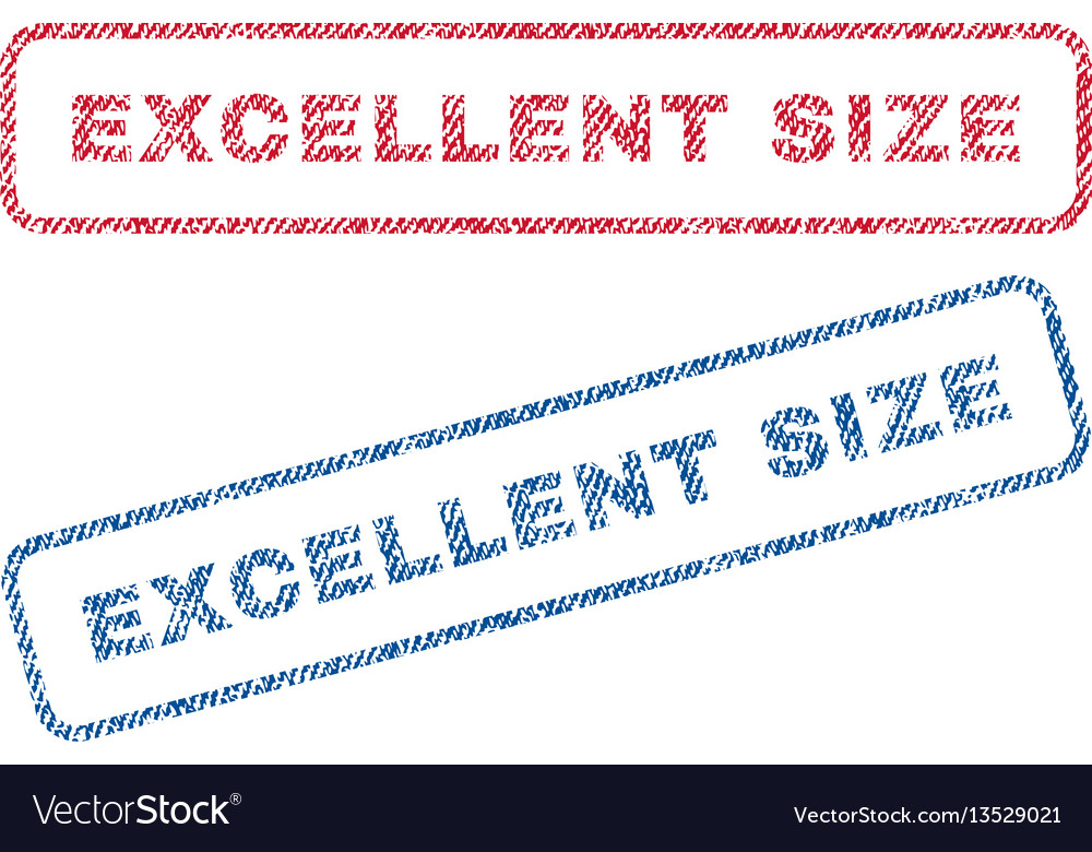 Excellent size textile stamps vector image