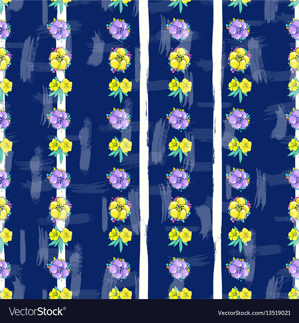 Exotic colorful flowers on a white-blue background