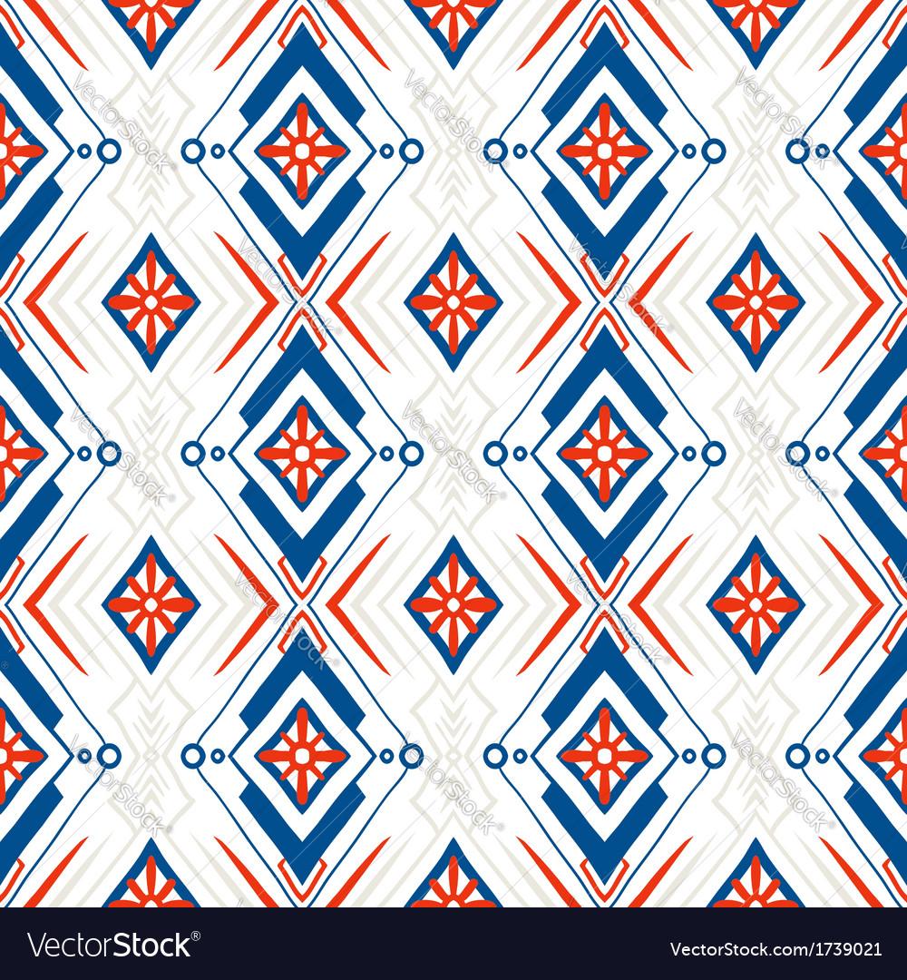 Geometric pattern with Scandinavian ethnic motifs