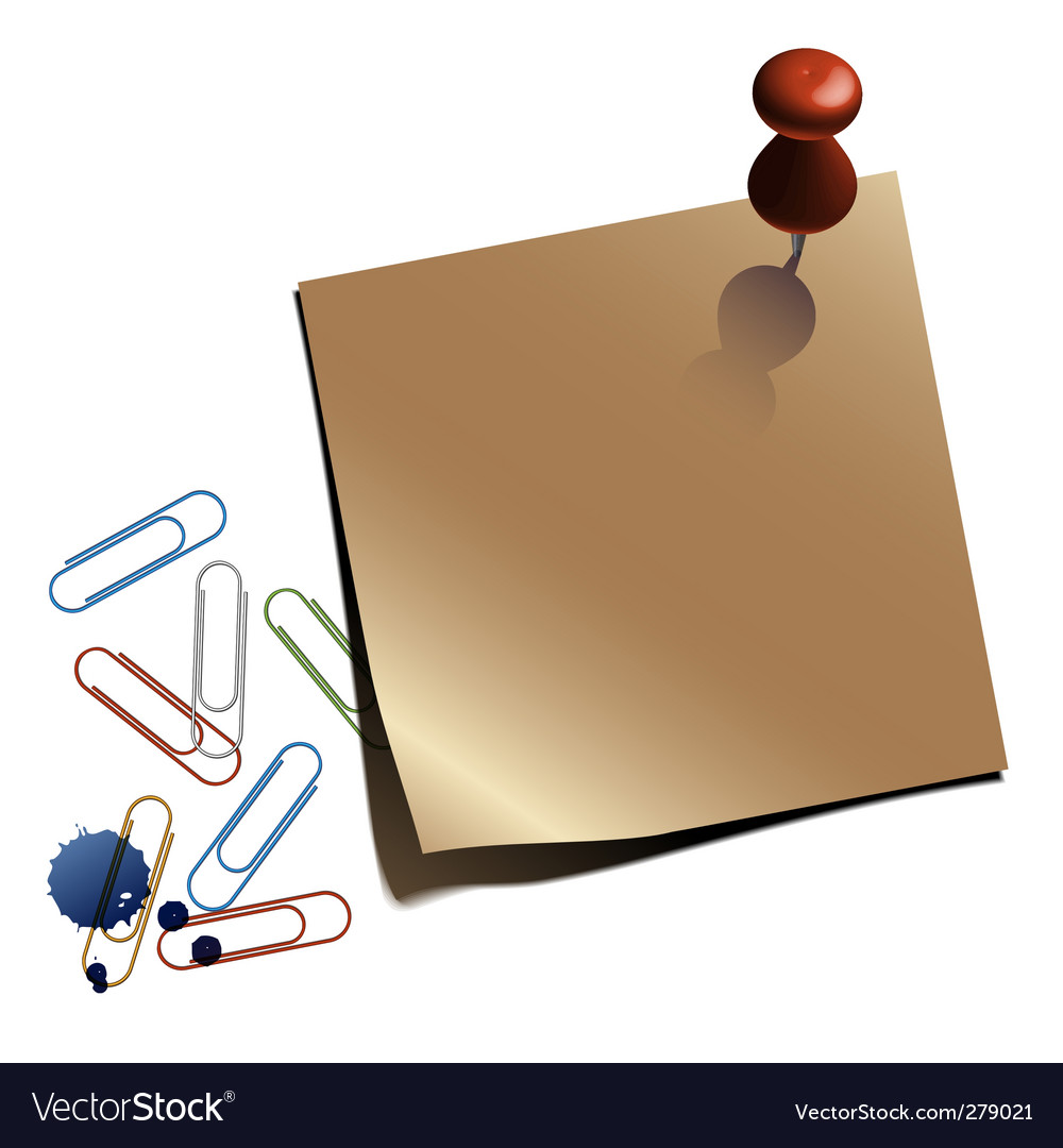 Notepaper with clips