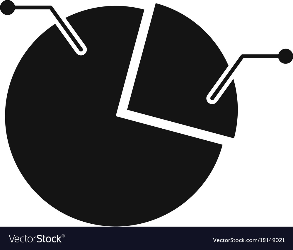 Pie Chart Icon Simple Royalty Free Vector Image