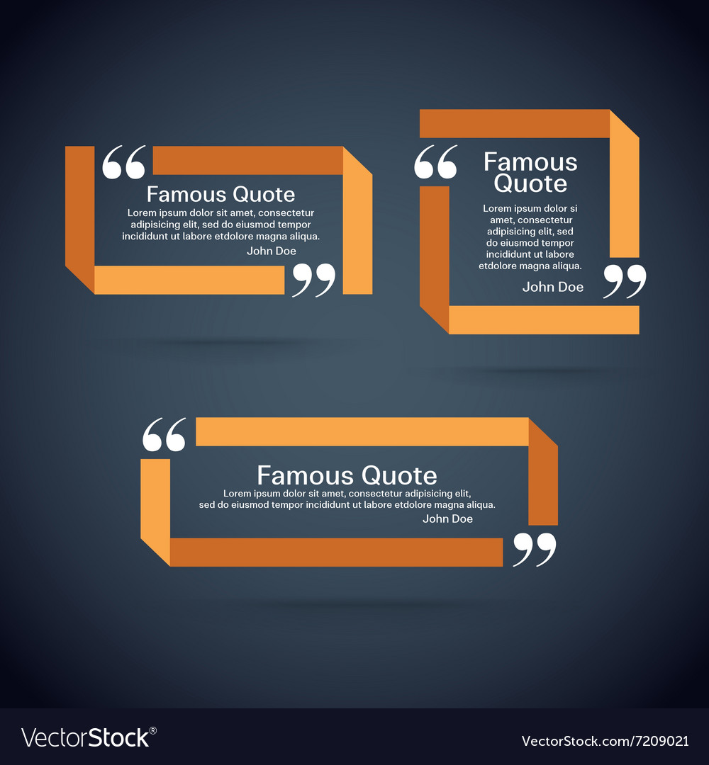 Quote border set