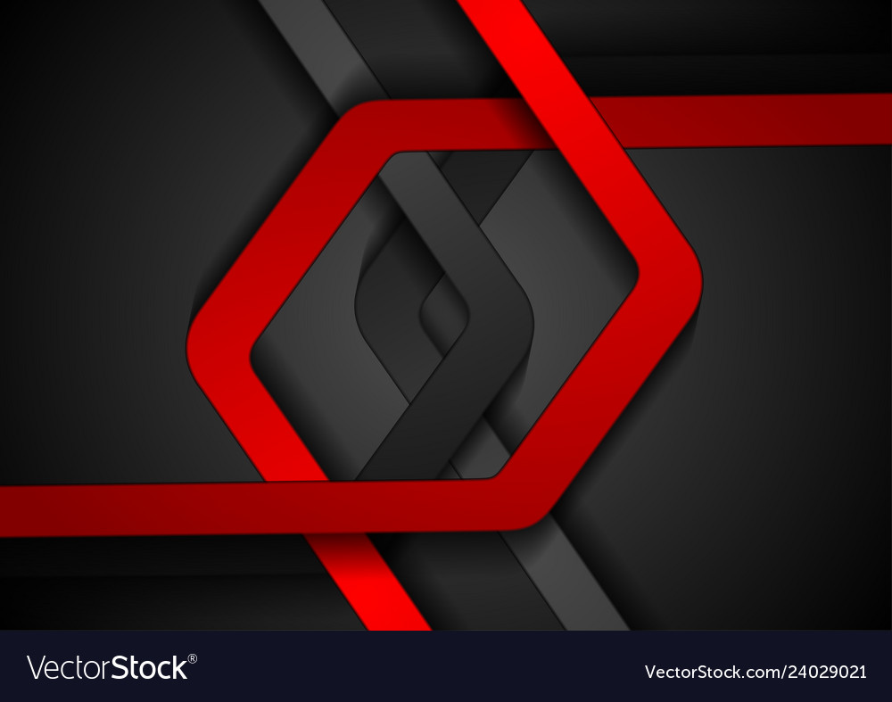 Red and black abstract stripes corporate