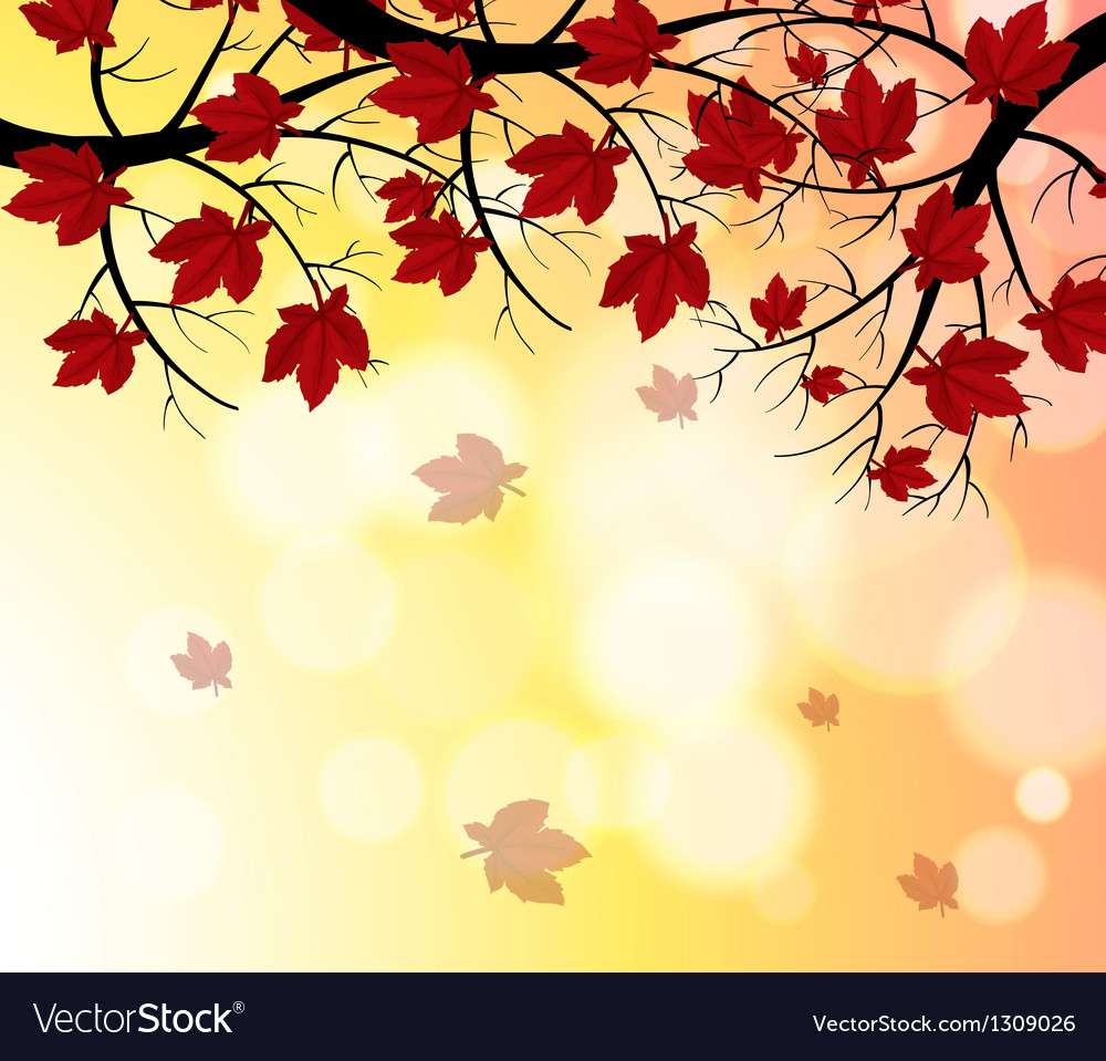 a stationery with falling leaves royalty free vector image