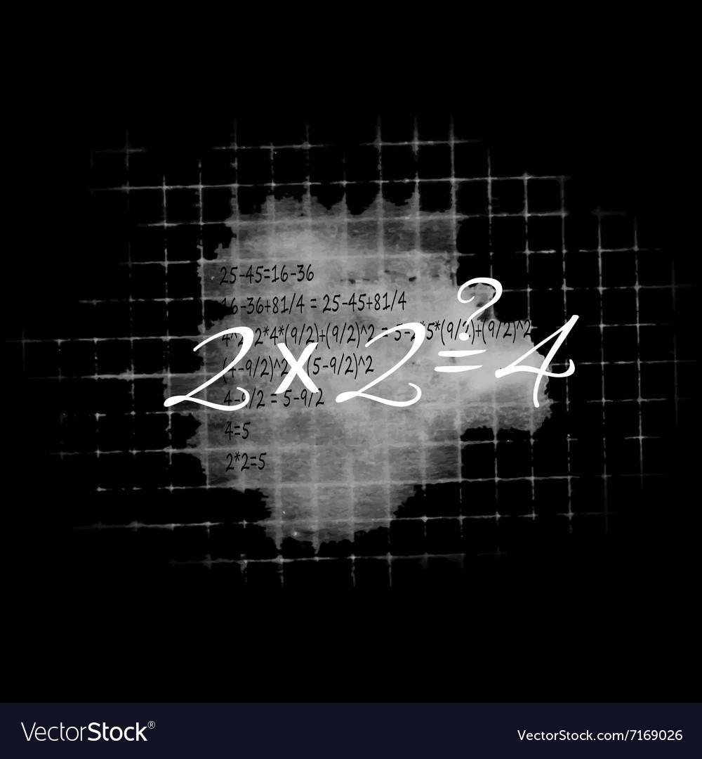 Board with formulas vector image