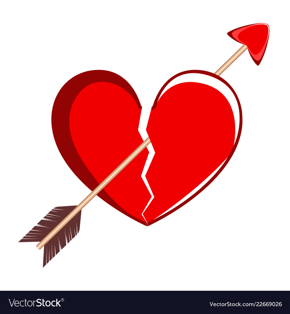 Image result for broken heart with arrow""