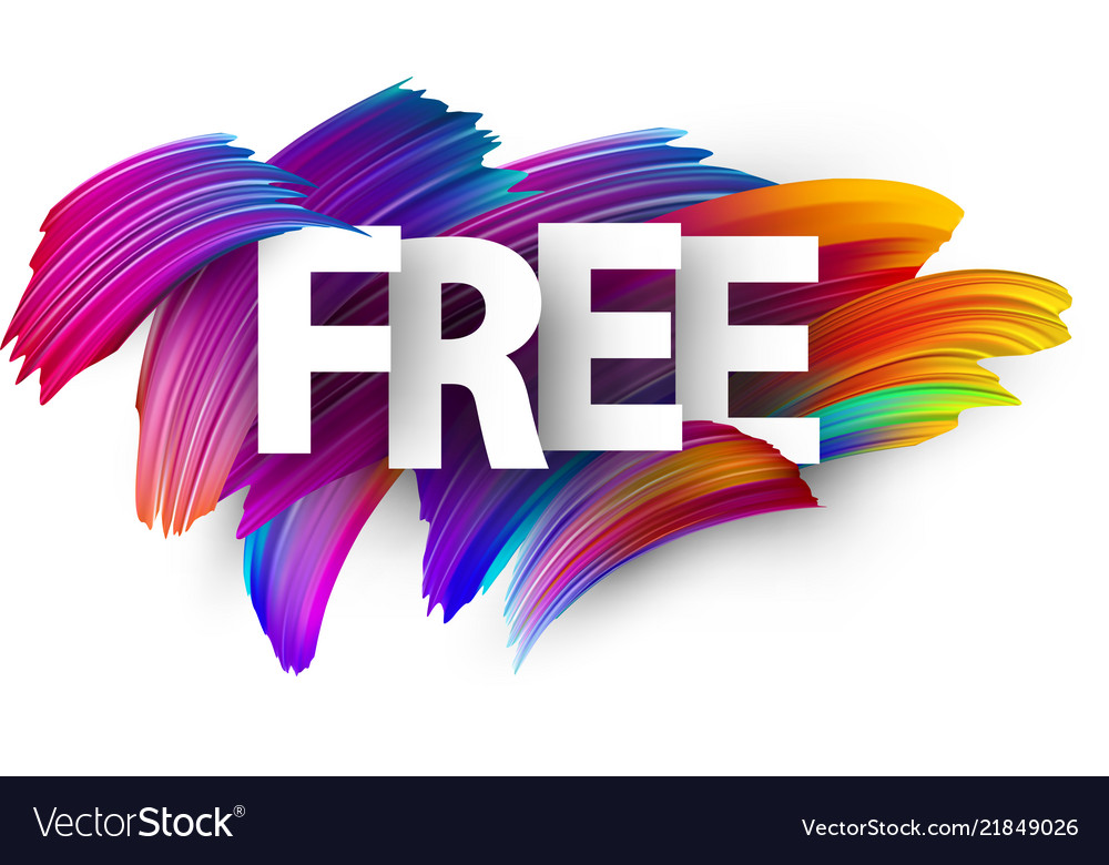 Free paper poster with colorful brush strokes