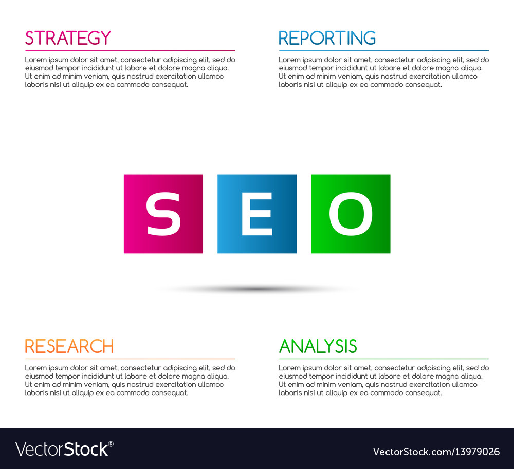 Minimalistic seo infographic template