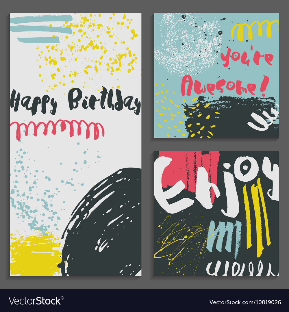 Set of abstract Greeting cards