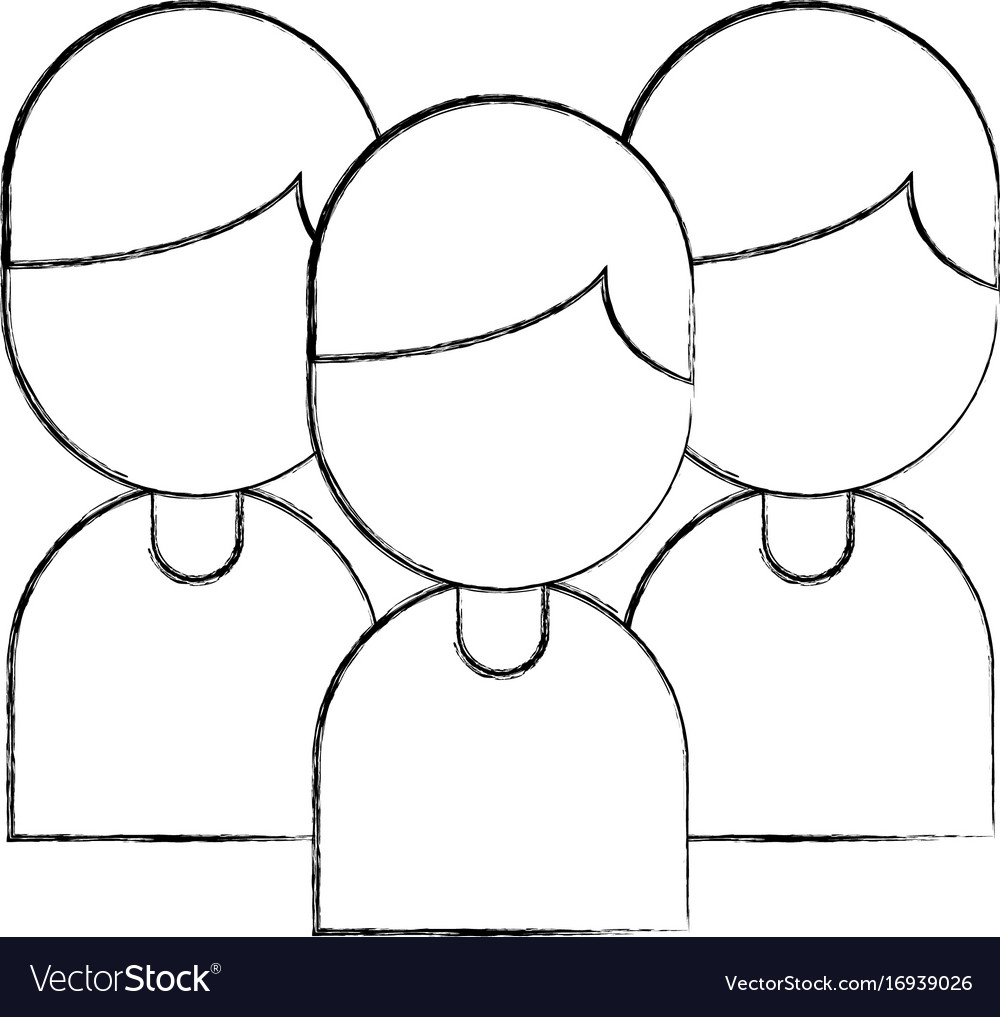 Teamwork people avatars icon