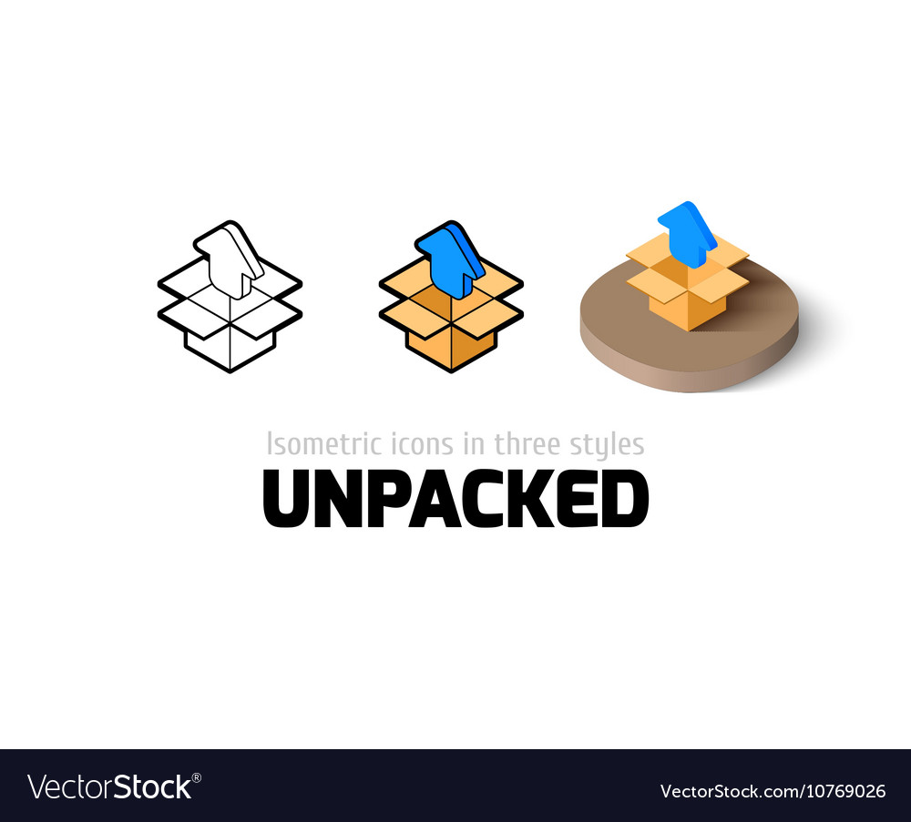 Unpacked icon in different style