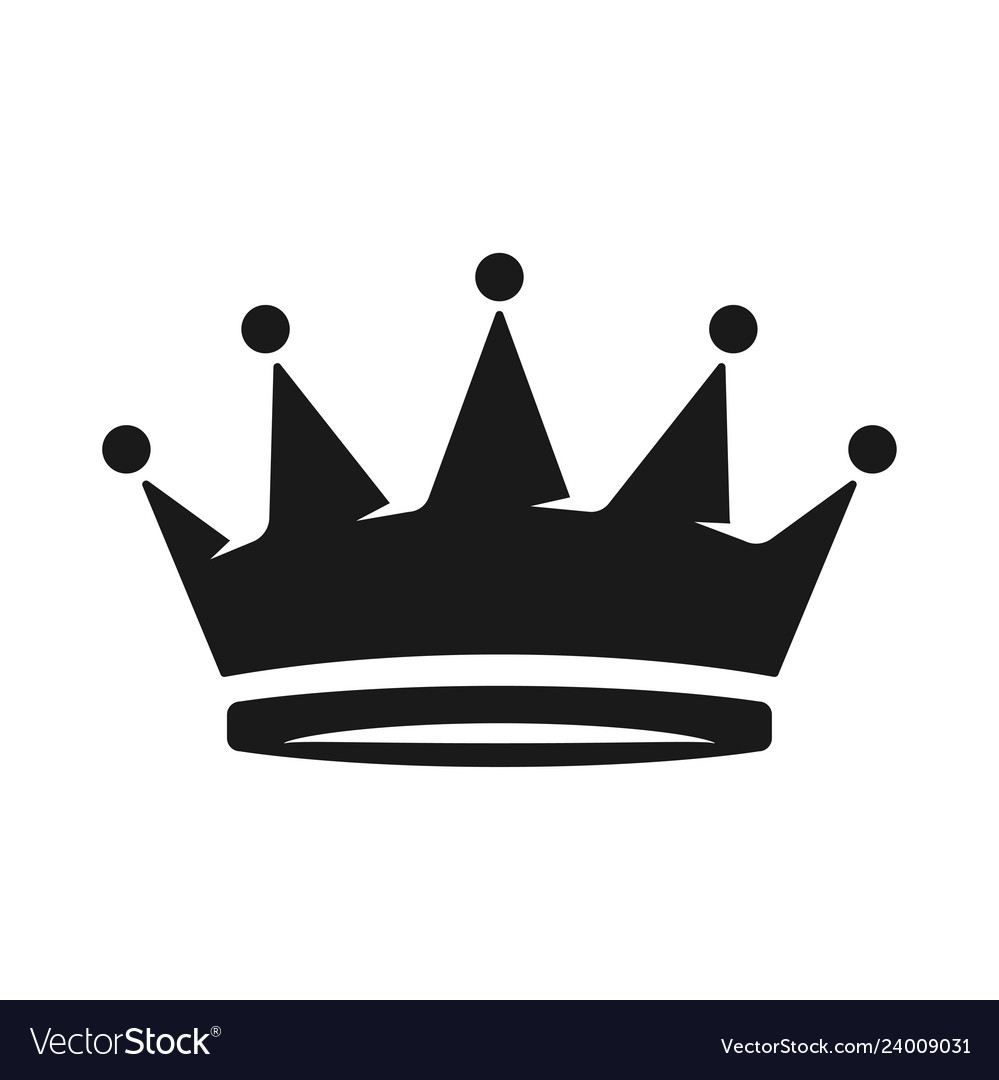 Crown icon in trendy flat style isolated on white
