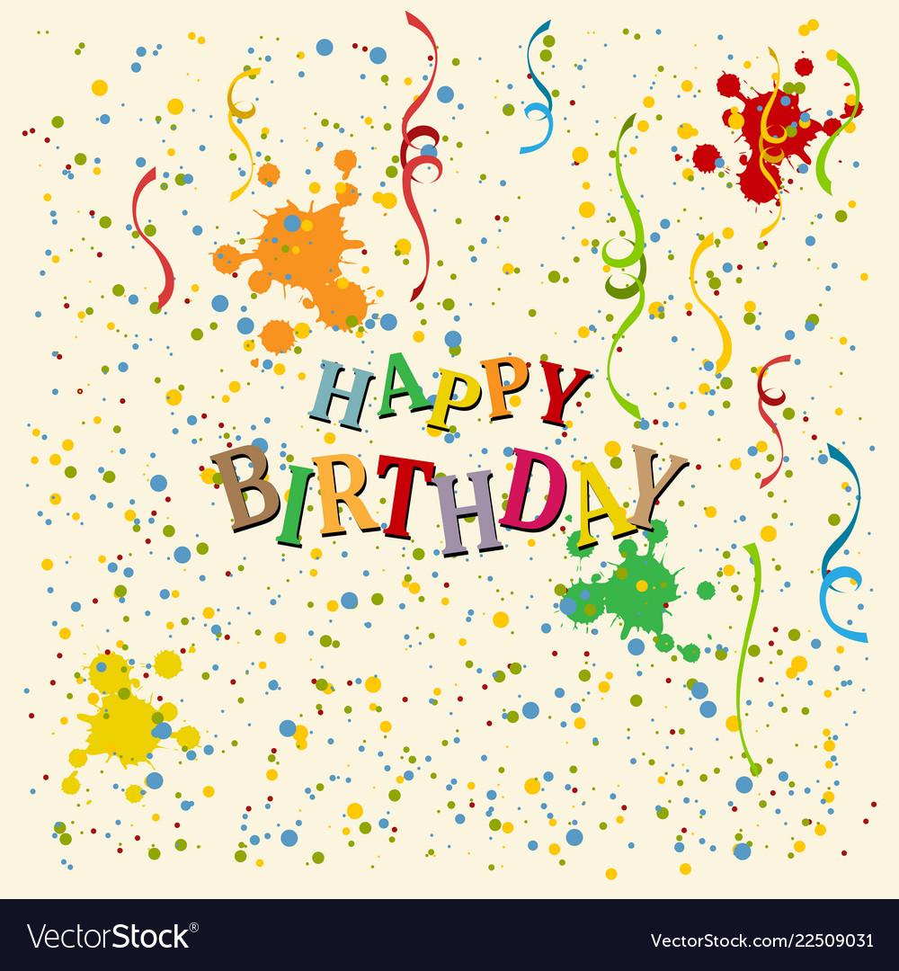 Happy birthday background eps10