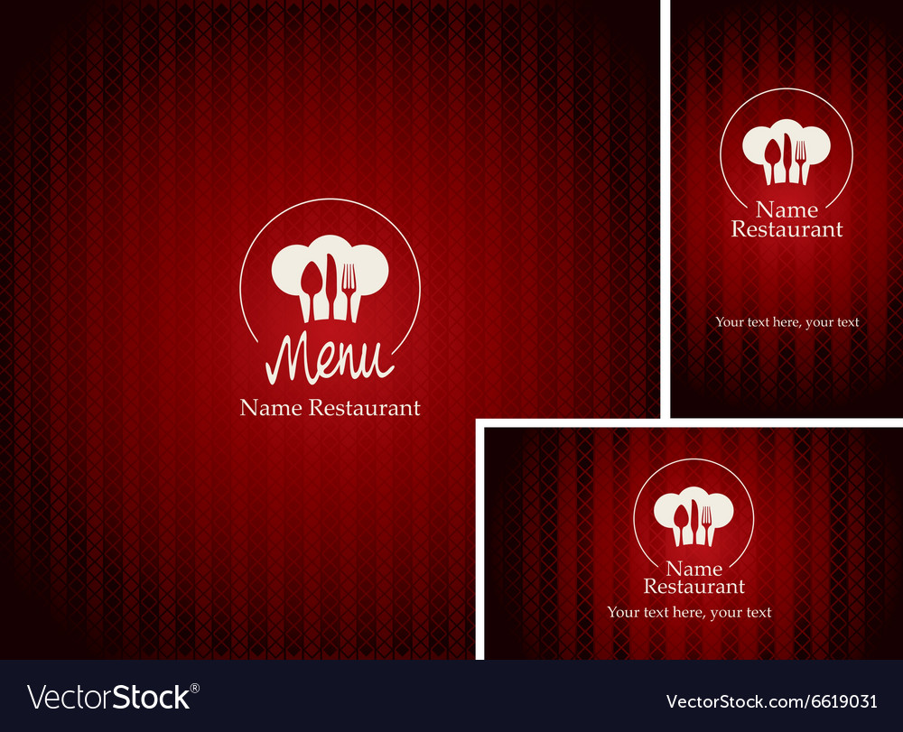 Menus and business cards for restaurant
