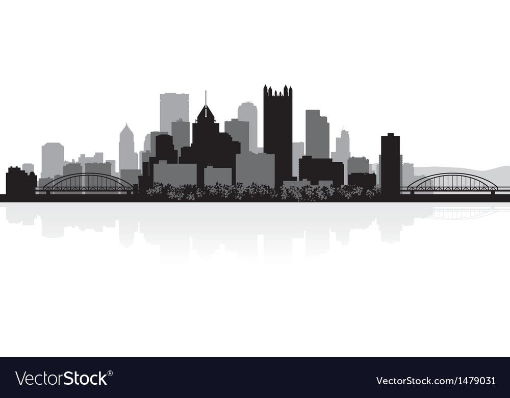 Pittsburgh USA city skyline silhouette
