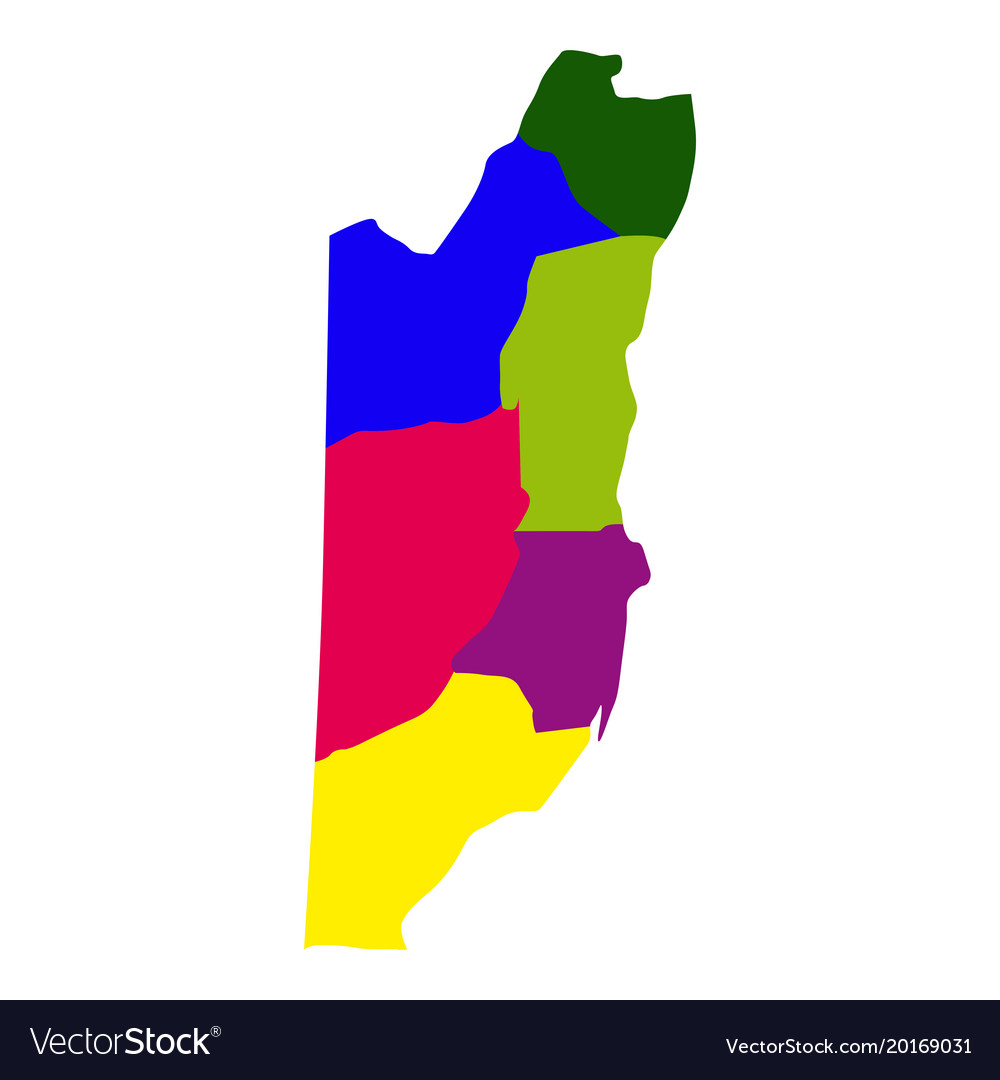 Belize Political Map.Political Map Of Belize Royalty Free Vector Image