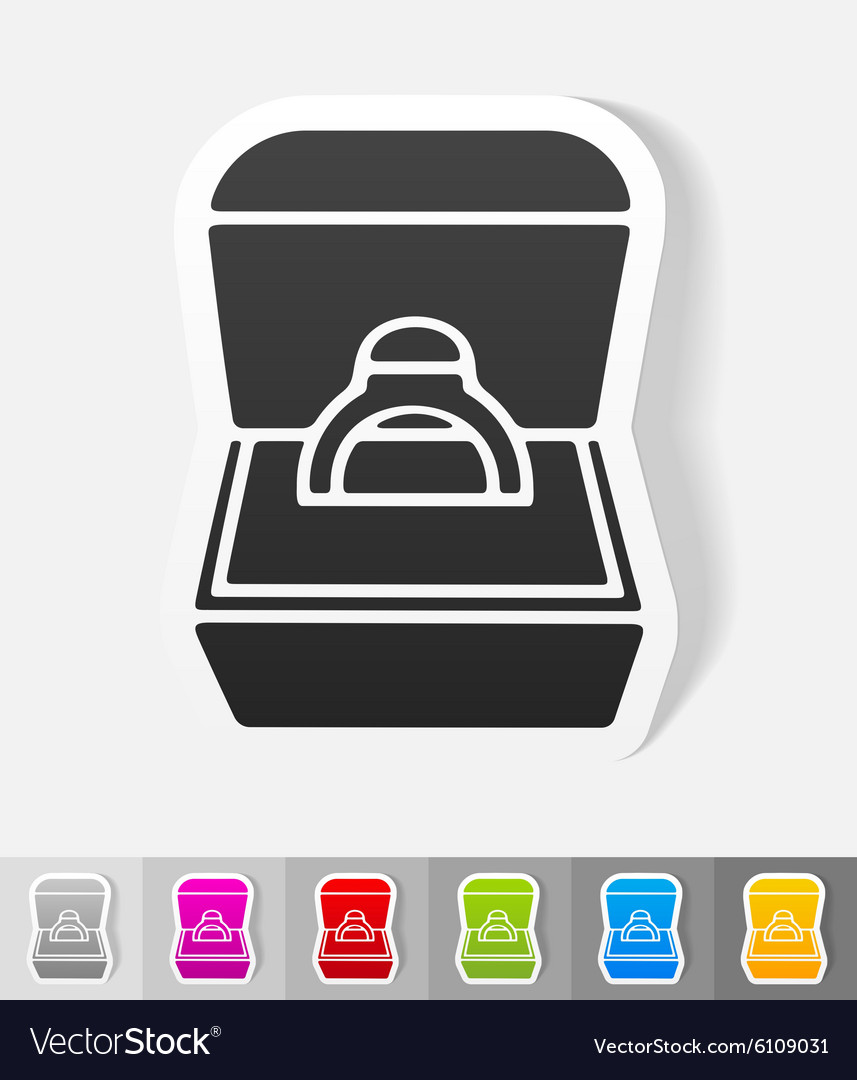 Enement Ring Design | Realistic Design Element Engagement Ring In A Box Vector Image